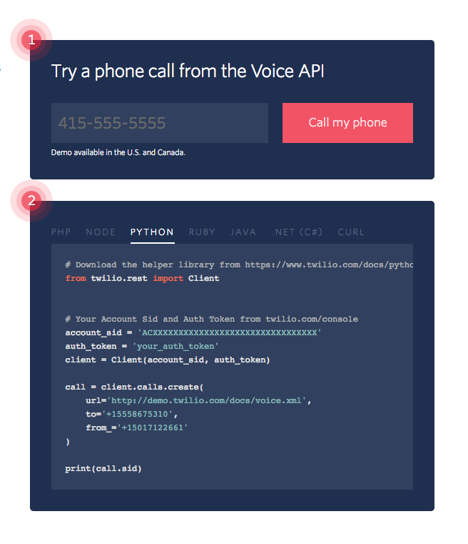 Programmable Voice API